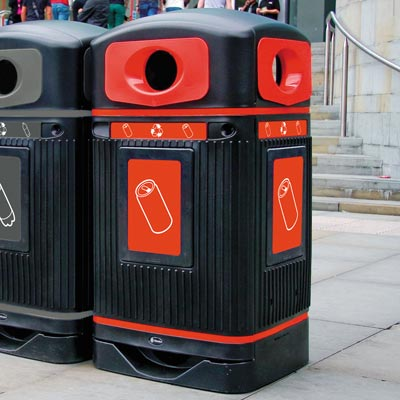 Glasdon Jubilee™ Can Recycling Bin